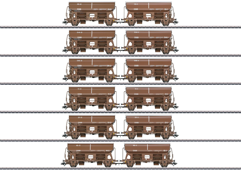 Märklin 46309 Selbstentladewagen-Set der DSB / Spur H0 / Epoche V