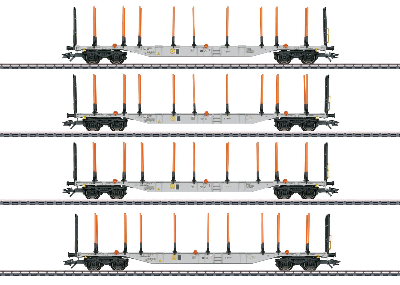 Märklin 47138 KLV-Tragwagen-Set Sgns 88, ExTe-Schemel / Spur H0 / Epoche VI