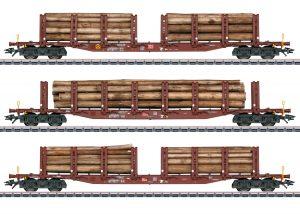 Märklin 47146 Rungenwagen-Set Holztransport der DB / Spur H0 / Epoche VI