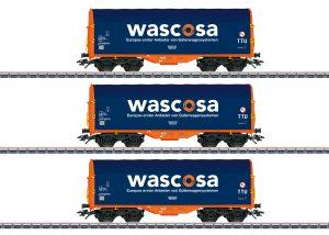 Märklin 47223 Schiebeplanenwagen-Set Wascos / Spur H0 / Epoche VI
