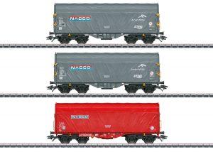 Märklin 47224 Schiebeplanenwagen-Set Nacco / Spur H0 / Epoche VI