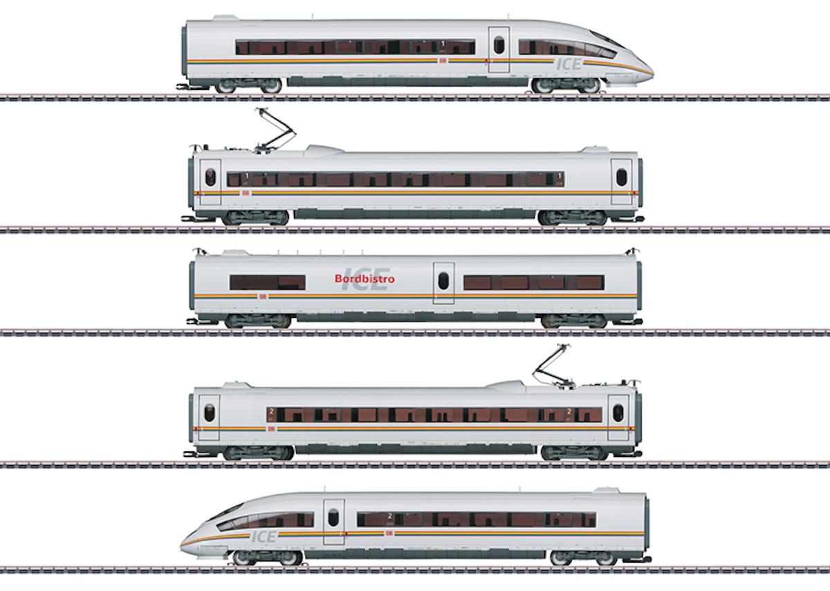 Märklin 37784 ICE 3 Railbow, 5-tlg, DB AG,  / Spur H0 / Regenbogen ICE