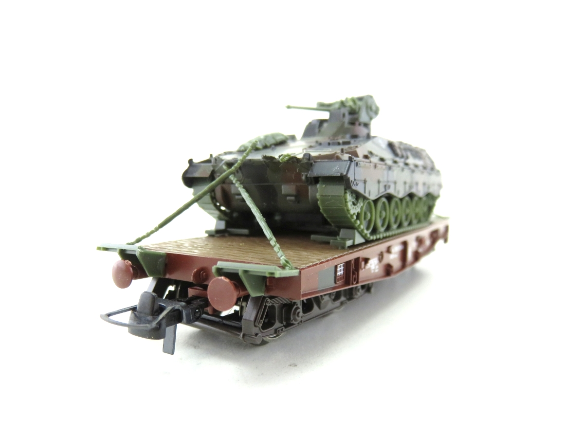 (SVH322) Roco 818 H0  Schwerlastwagen mit Marder Panzer OVP