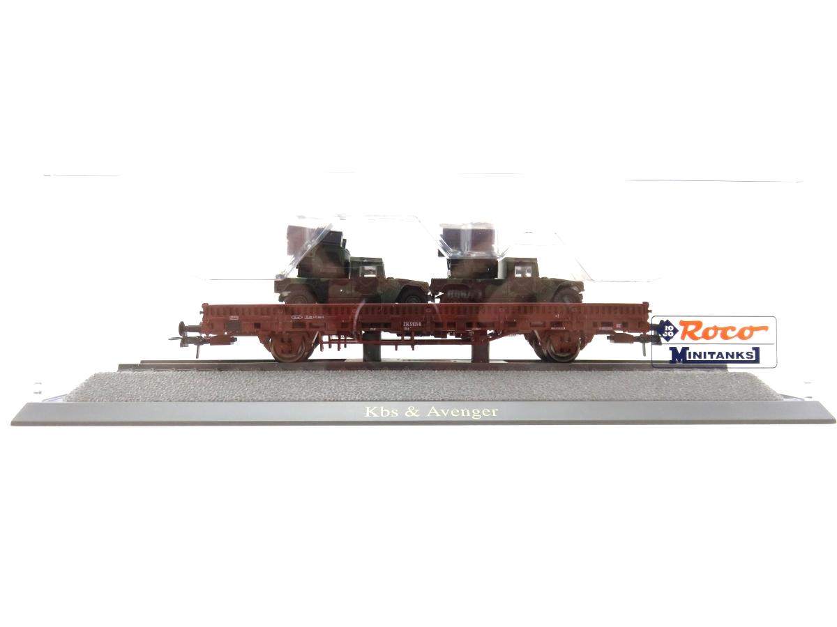 (SVH327) Roco 865 H0  Rungenwagen mit Hummer Avenger beladen OVP