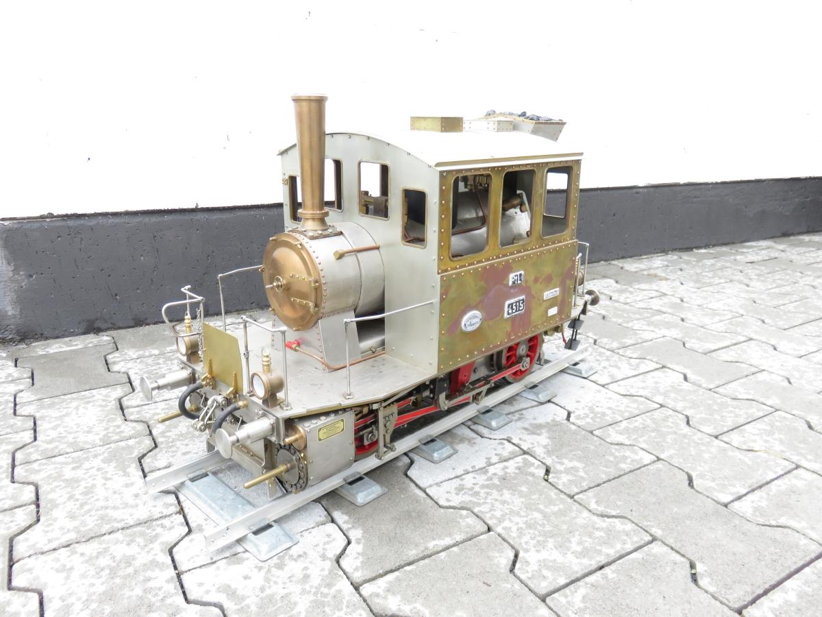 "(1MM03) 5 Zoll Dampflok BR 98.3 Glaskasten ""4515"" der K.Bay.Sts.B., Echtdampf, selten, Highlight"