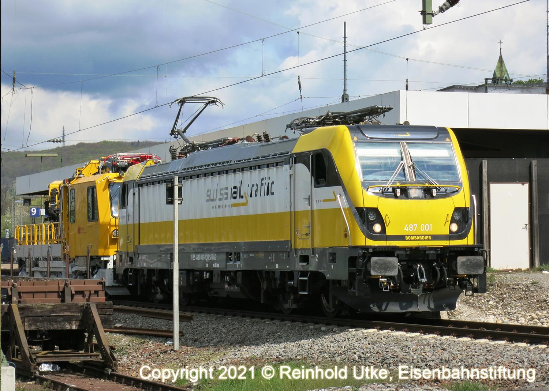 Märklin 55143 E-Lok BR 487 Swiss Rail Traff / Epoche VI / Spur 1 / mfx / DCC / Sound